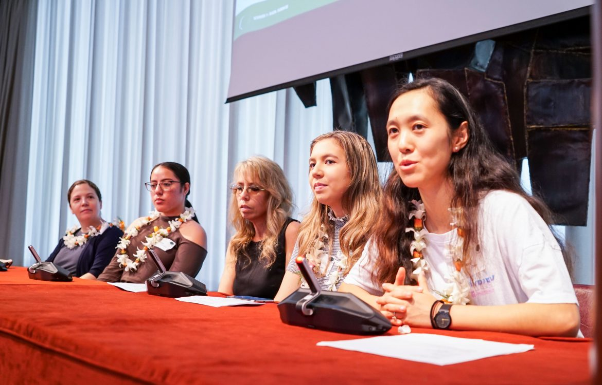 WiDS Conference Women in University panel